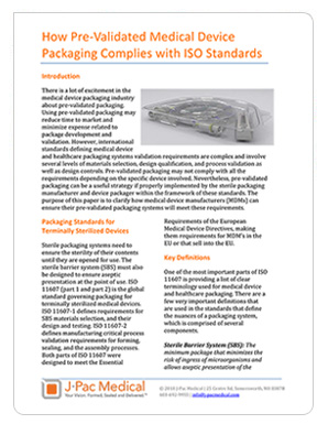 How Pre-Validated Medical Device Packaging Complies with ISO Standards